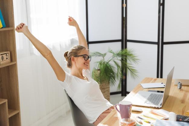Relação de produtividade de trabalho em home office