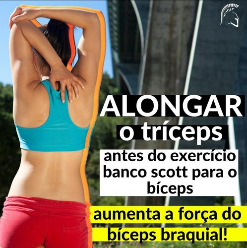 Alongar o tríceps pode ajudar a aumentar a força em um exercício para bíceps!